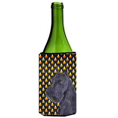 Schnauzer Giant Candy Corn Halloween Portrait Wine Bottle Hugger 24 oz.