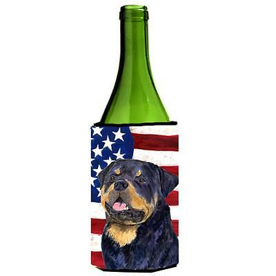 Carolines Treasures Usa American Flag With Rottweiler Wine Bottle Hugger 24 oz.
