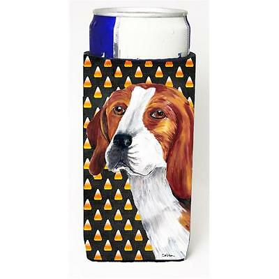 Beagle Candy Corn Halloween Portrait Michelob Ultra s For Slim Cans 12 oz.