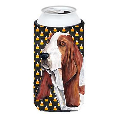 Basset Hound Candy Corn Halloween Portrait Tall Boy Hugger 22 To 24 oz.