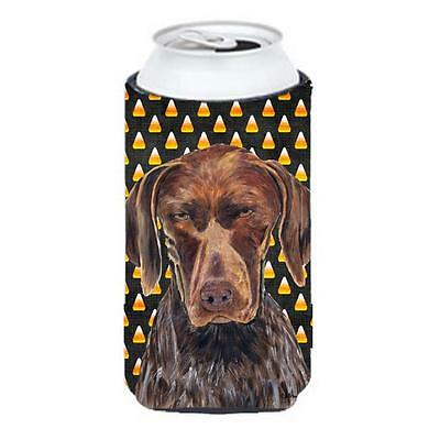 German Shorthaired Pointer Candy Corn Halloween Tall Boy Hugger 22 To 24 oz.