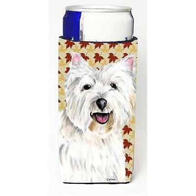 Westie Fall Leaves Portrait Michelob Ultra s For Slim Cans 12 oz.