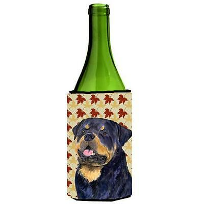 Carolines Treasures Rottweiler Fall Leaves Portrait Wine Bottle Hugger 24 oz.