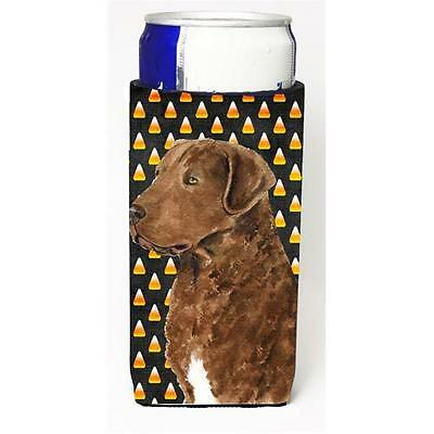Chesapeake Bay Retriever Wheaten Candy Corn Halloween Portrait Michelob Ultra...