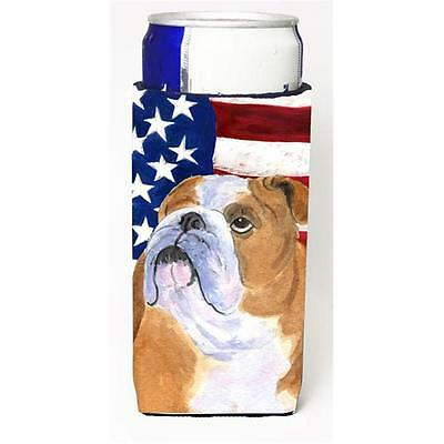 Usa American Flag With Bulldog English Michelob Ultra s For Slim Cans 12 oz.