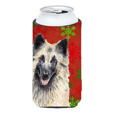Belgian Tervuren Snowflakes Holiday Christmas Tall Boy Hugger 22 To 24 oz.