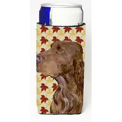 Field Spaniel Fall Leaves Portrait Michelob Ultra s For Slim Cans 12 oz.