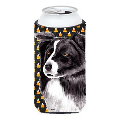 Border Collie Candy Corn Halloween Portrait Tall Boy Hugger 22 To 24 oz.