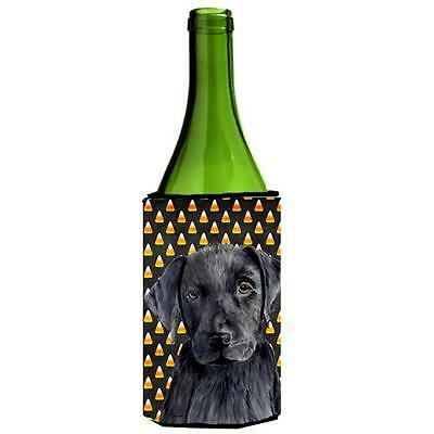 Labrador Candy Corn Halloween Portrait Wine Bottle Hugger 24 oz.