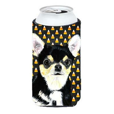 Chihuahua Candy Corn Halloween Portrait Tall Boy Hugger 22 To 24 oz.