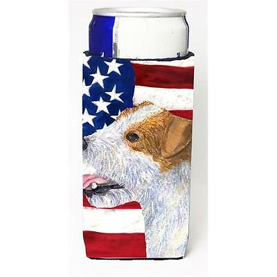 Usa American Flag With Jack Russell Terrier Michelob Ultra s For Slim Cans 12...