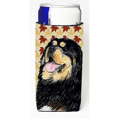 Tibetan Mastiff Fall Leaves Portrait Michelob Ultra s For Slim Cans 12 oz.