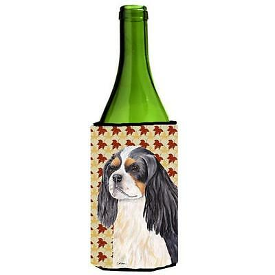 Cavalier Spaniel Fall Leaves Portrait Wine bottle sleeve Hugger 24 oz. • AUD 48.26