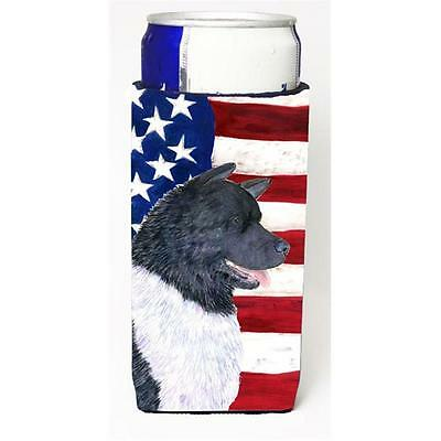 Usa American Flag With Akita Michelob Ultra s For Slim Cans 12 oz.