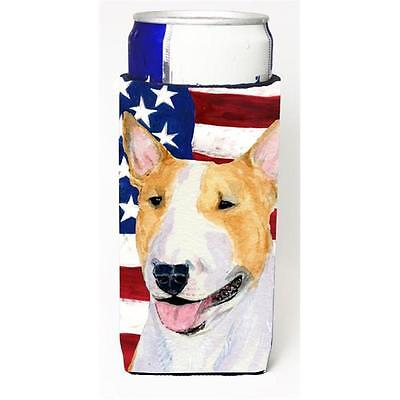 Usa American Flag With Bull Terrier Michelob Ultra s For Slim Cans 12 oz.