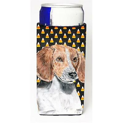 English Foxhound Halloween Candy Corn Michelob Ultra bottle sleeve for Slim Can