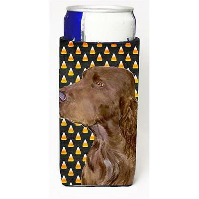 Field Spaniel Candy Corn Halloween Portrait Michelob Ultra s For Slim Cans 12...