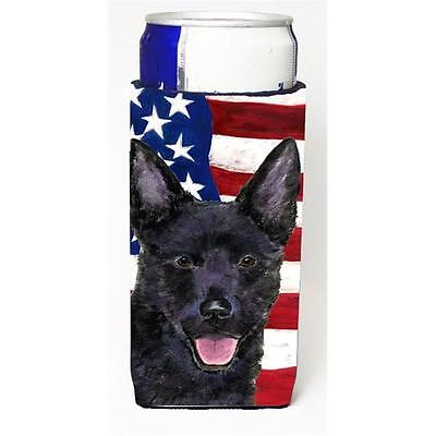 Usa American Flag With Australian Kelpie Michelob Ultra s For Slim Cans 12 oz.
