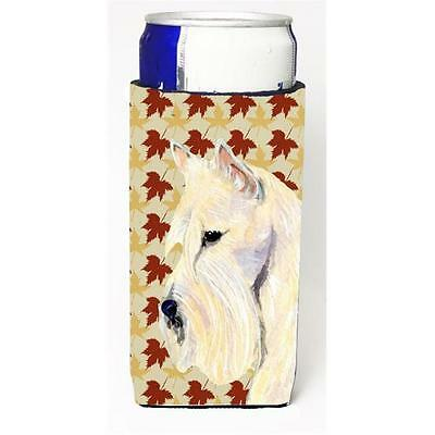 Scottish Terrier Wheaten Fall Leaves Portrait Michelob Ultra s For Slim Cans ...