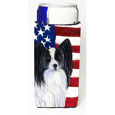 Usa American Flag With Papillon Michelob Ultra s For Slim Cans 12 oz.