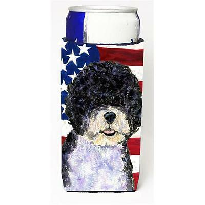 Usa American Flag With Portuguese Water Dog Michelob Ultra bottle sleeve for ...