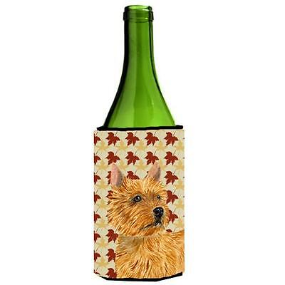 Norwich Terrier Fall Leaves Portrait Wine bottle sleeve Hugger