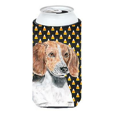 English Foxhound Halloween Candy Corn Tall Boy bottle sleeve Hugger