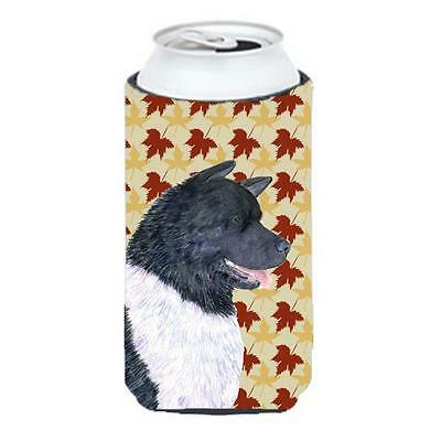 Carolines Treasures Akita Fall Leaves Portrait Tall Boy Hugger 22 To 24 oz.