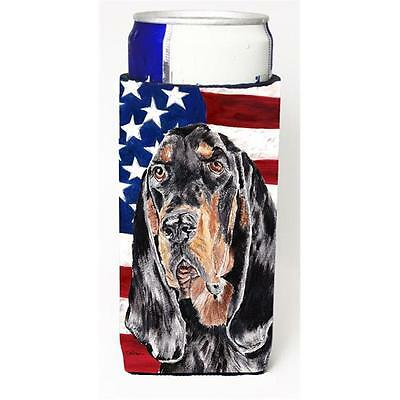 Coonhound Black And Tan Usa American Flag Michelob Ultra bottle sleeves For S...