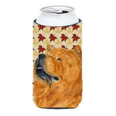Chow Chow Fall Leaves Portrait Tall Boy bottle sleeve Hugger 22 To 24 oz.