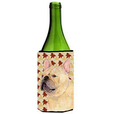 French Bulldog Fall Leaves Portrait Wine bottle sleeve Hugger