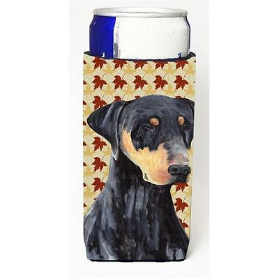 Doberman Fall Leaves Portrait Michelob Ultra s For Slim Cans 12 oz.