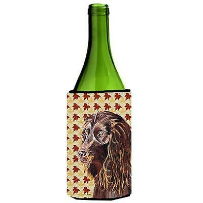 Carolines Treasures Boykin Spaniel Fall Leaves Wine bottle sleeve Hugger