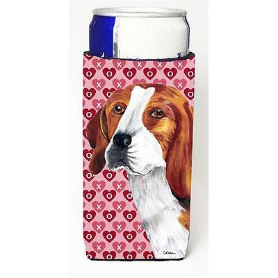 Beagle Hearts Love and Valentines Day Portrait Michelob Ultra bottle sleeves ...
