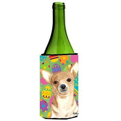 Eggravaganza Chihuahua Easter Wine bottle sleeve Hugger 24 oz.