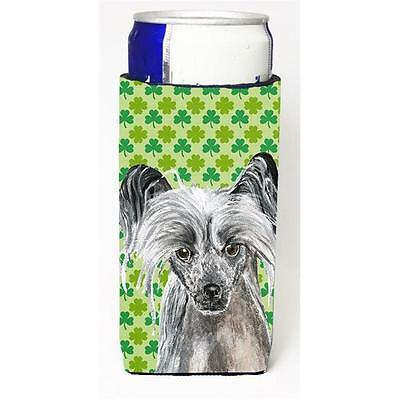 Chinese Crested St Patricks Irish Michelob Ultra bottle sleeves For Slim Cans...