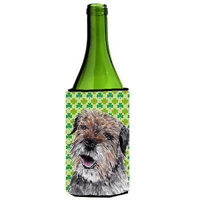 Border Terrier St Patricks Irish Wine bottle sleeve Hugger 24 oz.