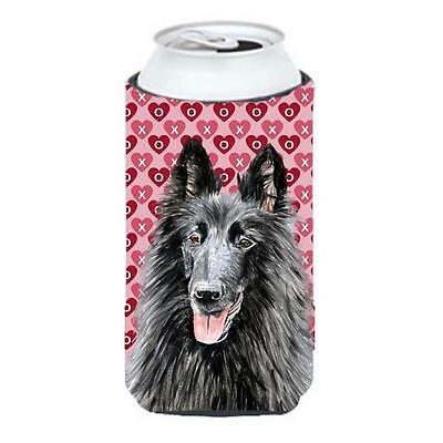 Belgian Sheepdog Hearts Love and Valentines Day Tall Boy bottle sleeve Hugger