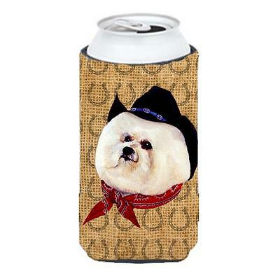 Bichon Frise Dog Country Lucky Horseshoe Tall Boy bottle sleeve Hugger 22 To ...