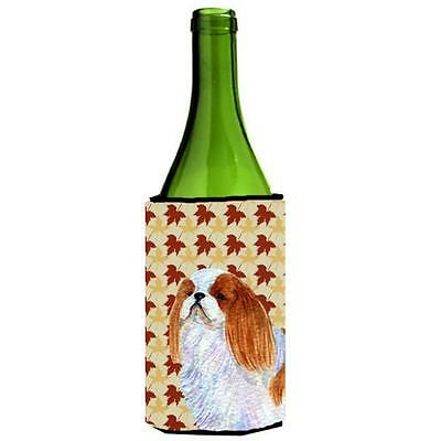 English Toy Spaniel Fall Leaves Portrait Wine bottle sleeve Hugger 24 oz.