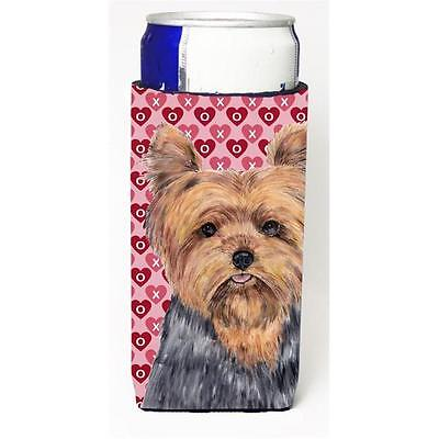 Yorkie Hearts Love and Valentines Day Portrait Michelob Ultra bottle sleeve f...