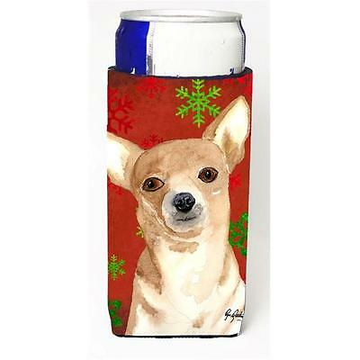 Red Snowflake Chihuahua Christmas Michelob Ultra bottle sleeves for slim cans...