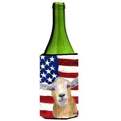 Carolines Treasures USA American Goat Wine bottle sleeve Hugger 24 oz.