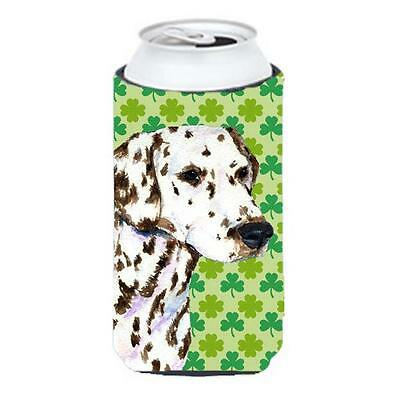 Dalmatian St. Patricks Day Shamrock Portrait Tall Boy bottle sleeve Hugger 22...