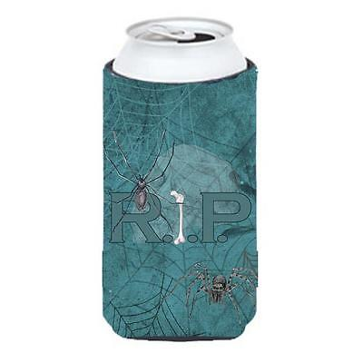 Rip Rest In Peace With Spider Web Halloween Tall Boy bottle sleeve Hugger 22 ...