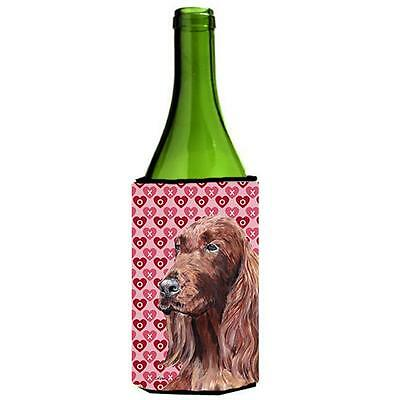 Irish Setter Valentines Love Wine bottle sleeve Hugger 24 oz.