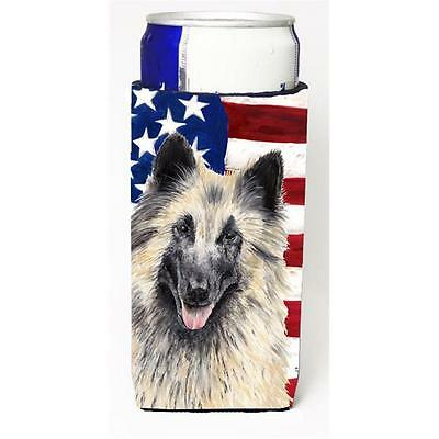 USA American Flag with Belgian Tervuren Michelob Ultra s for slim cans
