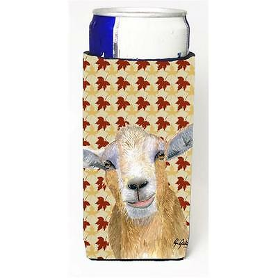 Fall Leaves Goat Michelob Ultra bottle sleeves For Slim Cans 12 oz.
