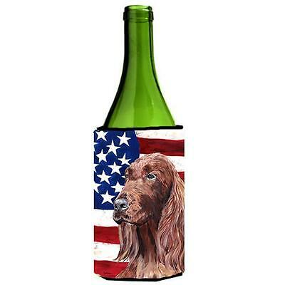Carolines Treasures Irish Setter Usa American Flag Wine Bottle Hugger 24 oz.