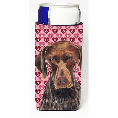 German Shorthaired Pointer Hearts Love And Valentines Day Michelob Ultra bott...